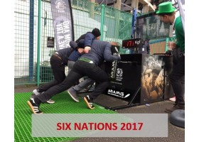Aramis Rugby scrum machines during Six Nations 2017