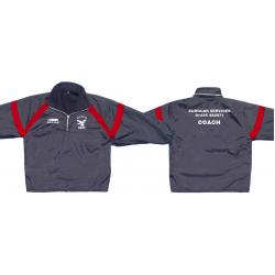 Coaches Jacket - Fleece lined - Showerproof - Quarter Zip- Custom made