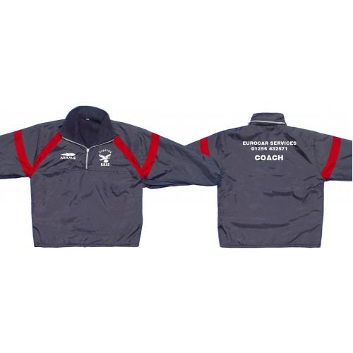 Coaches Jacket - Fleece lined - Showerproof - Quarter Zip- Custom made - Aramis Coaches & Referees manufacturer ARAMIS RUGBY Seller - Aramis Rugby - www.AramisRugby.co.uk