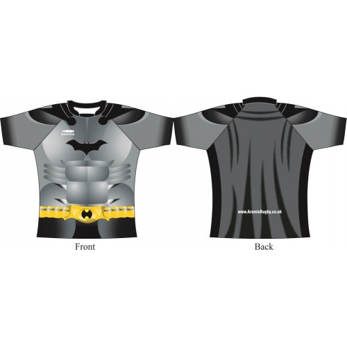 Rugby Tour Shirt - Design2 - BatMan - Aramis Tour Shirts manufacturer ARAMIS RUGBY Seller - Aramis Rugby - www.AramisRugby.co.uk