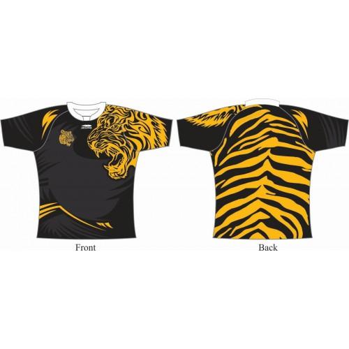 Rugby Tour Shirt - Design21 - Tiger - Aramis Tour Shirts manufacturer ARAMIS RUGBY Seller - Aramis Rugby - www.AramisRugby.co.uk