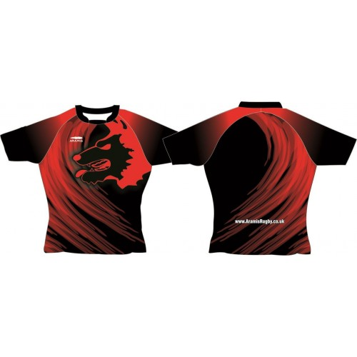 Rugby Tour Shirt - Design24 - Wolf - Aramis Tour Shirts manufacturer ARAMIS RUGBY Seller - Aramis Rugby - www.AramisRugby.co.uk