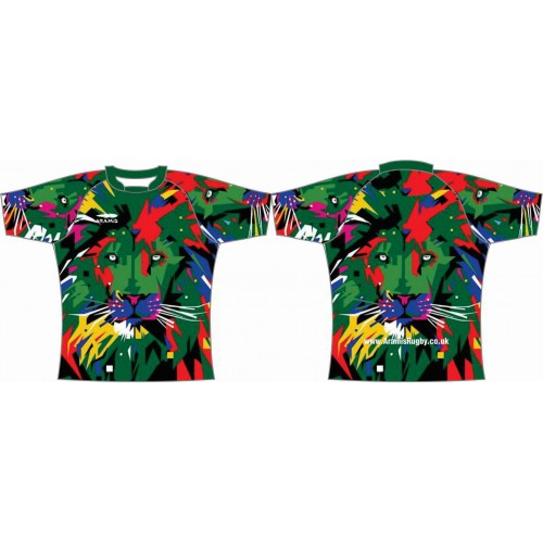 Rugby Tour Shirt - Design30 - Abstract Lion - Aramis Tour Shirts manufacturer ARAMIS RUGBY Seller - Aramis Rugby - www.AramisRugby.co.uk