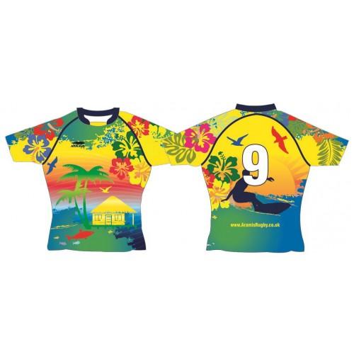Rugby Tour Shirt - Design38 - Hawaii - Aramis Tour Shirts manufacturer ARAMIS RUGBY Seller - Aramis Rugby - www.AramisRugby.co.uk