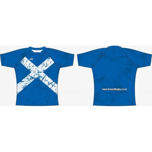 Rugby Tour Shirt - Design34 - Scotland - Aramis Tour Shirts manufacturer ARAMIS RUGBY Seller - Aramis Rugby - www.AramisRugby.co.uk
