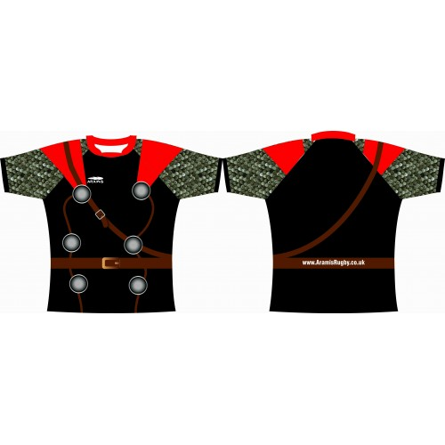 Rugby Tour Shirt - Design53 - Roman Fighter - Aramis Tour Shirts manufacturer ARAMIS RUGBY Seller - Aramis Rugby - www.AramisRugby.co.uk