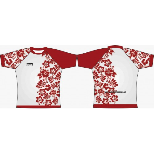 Rugby Tour Shirt - Design55 - Floral - Aramis Tour Shirts manufacturer ARAMIS RUGBY Seller - Aramis Rugby - www.AramisRugby.co.uk