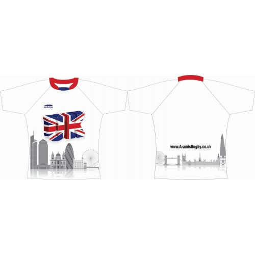 Rugby Tour Shirt - Design64 - London Skyline - Aramis Tour Shirts manufacturer ARAMIS RUGBY Seller - Aramis Rugby - www.AramisRugby.co.uk