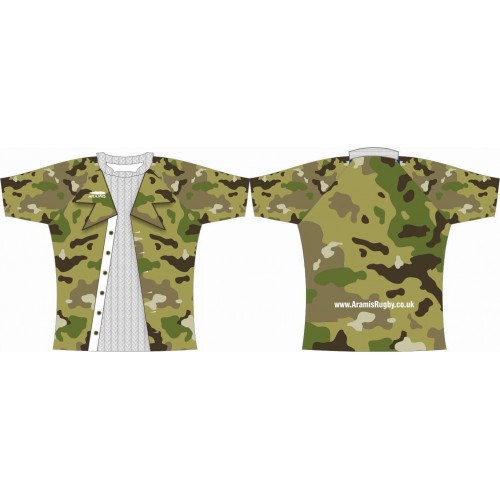 Rugby Tour Shirt - Design65 - Camouflage - Aramis Tour Shirts manufacturer ARAMIS RUGBY Seller - Aramis Rugby - www.AramisRugby.co.uk