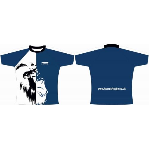 Rugby Tour Shirt - Design66 - Gorilla - Aramis Tour Shirts manufacturer ARAMIS RUGBY Seller - Aramis Rugby - www.AramisRugby.co.uk