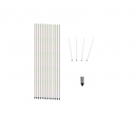 Corner Poles - Set of 14 - Standard With Spike - Aramis Corner Poles manufacturer ARAMIS Seller - Aramis Rugby - www.AramisRugby.co.uk