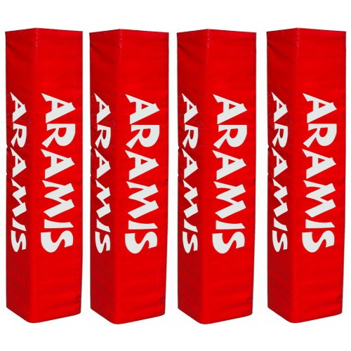 "Rugby Post Pads - Set of 4 (14""-36cm wide face) - Aramis Goal-Post Protectors manufacturer ARAMIS Seller - Aramis Rugby - www.AramisRugby.co.uk"