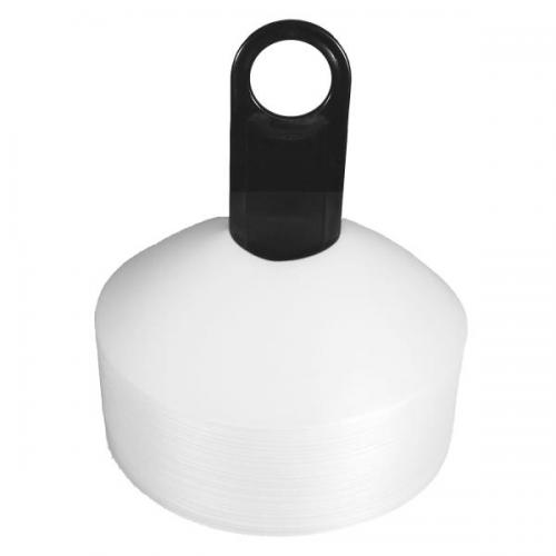 Disc Markers - White (Set of 50) - Aramis Cones & Grid Markers manufacturer ARAMIS Seller - Aramis Rugby - www.AramisRugby.co.uk