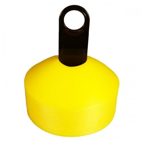 Disc Markers - Yellow Fluorescent (Set of 50) - Aramis Cones & Grid Markers manufacturer ARAMIS Seller - Aramis Rugby - www.AramisRugby.co.uk