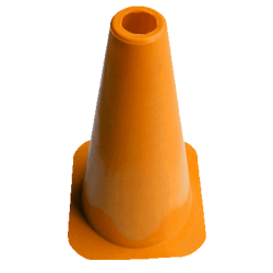 "Solid Training Cones - 30cm (12"") Set of 20"